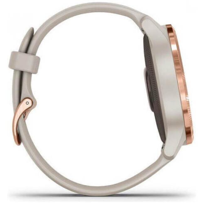 Смарт-годинник Garmin Venu Rose Gold Stainless Steel Bezel with Light Sand Silicone Band (010-02173-21) ГАРАНТІЯ 3 міс.