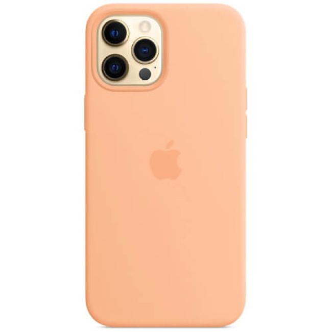 Чохол-накладка iPhone 12 Pro Max Silicone Case with MagSafe Cantaloupe (MK073)