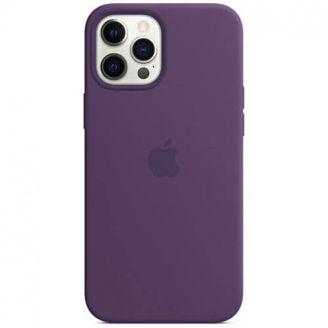 Чохол-накладка iPhone 12 Pro Max Silicone Case with MagSafe Amethyst (MK083)