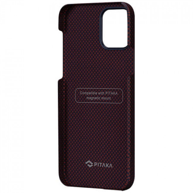 Чохол-накладка Pitaka MagEZ Case Plain Black/Red for iPhone 12 Pro Max (KI1204PM)