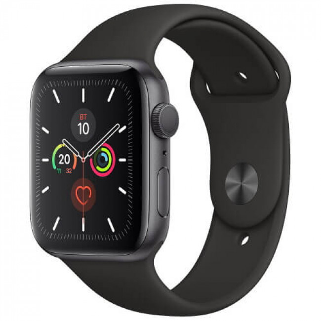 Apple WATCH Series 5 44mm Space Gray GPS Aluminium Case with Black Sport Band (MWVF2)