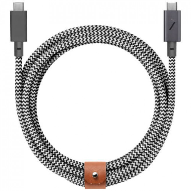 Кабель Native Union Belt Cable USB-C to USB-C Pro Zebra (2.4 m) (BELT-C-ZEB-PRO-NP)