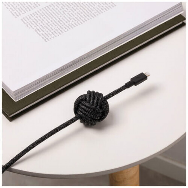 Кабель Native Union Night Cable USB-C to Lightning Cosmos Black (3 m) (NCABLE-CL-CS-BK-NP)