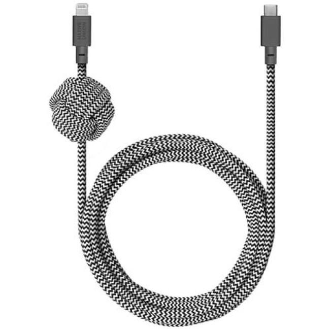 Кабель Native Union Night Cable USB-C to Lightning Zebra (3 m) (NCABLE-KV-CL-ZEB)