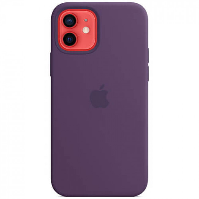 Чохол-накладка Apple iPhone 12/12 Pro Silicone Case with MagSafe Amethyst (MK033)