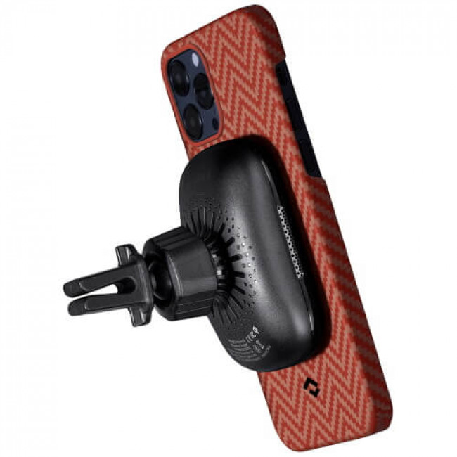 Чохол-накладка Pitaka MagEZ Case Herringbone Red/Orange for iPhone 12 Pro (KI1207P)