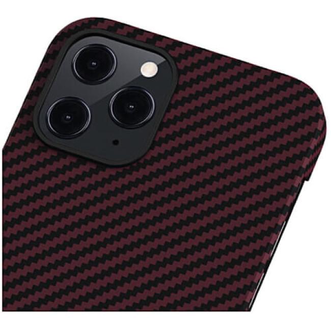 Чохол-накладка Pitaka MagEZ Case Twill Black/Red for iPhone 12 Pro Max (KI1203PM)