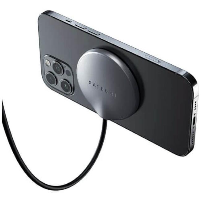 Бездротовий зарядний пристрій Satechi USB-C Magnetic Wireless Charging Cable Space Grey (ST-UCQIMCM)